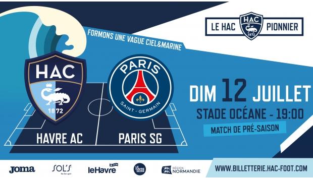 1er Match de pré-saison 2020-2021 : le HAC accueille le PSG